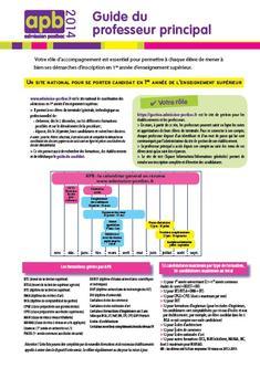 Guide apb 2014 du professeur principal