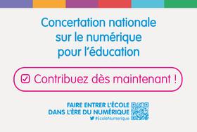 Publication des premiers résultats de la concertation nationale sur le numérique pour l'éducation
