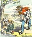 Le loup et l'agneau - Image d'Épinal