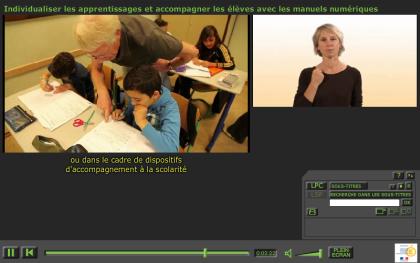 la vidéo avec options LSF ou LCP