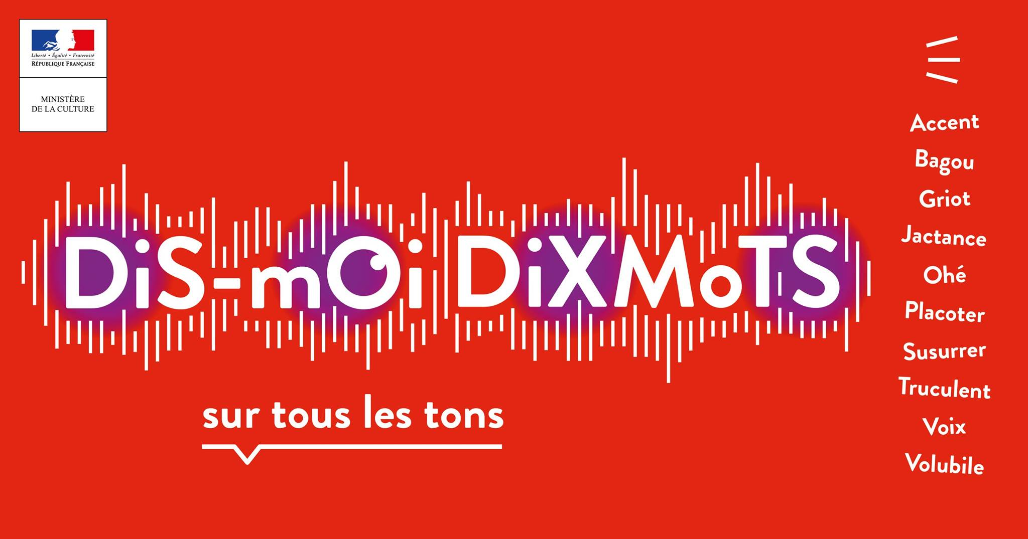Image result for dis moi dix mots 2018 mots