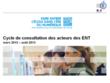 Le cycle de consultation des acteurs des ENT