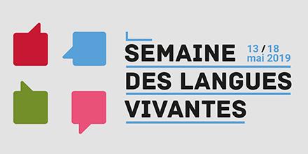 logo de la semaine des langues vivantes 2018