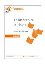 Littérature - Liste de référence cycle 3 - 2013