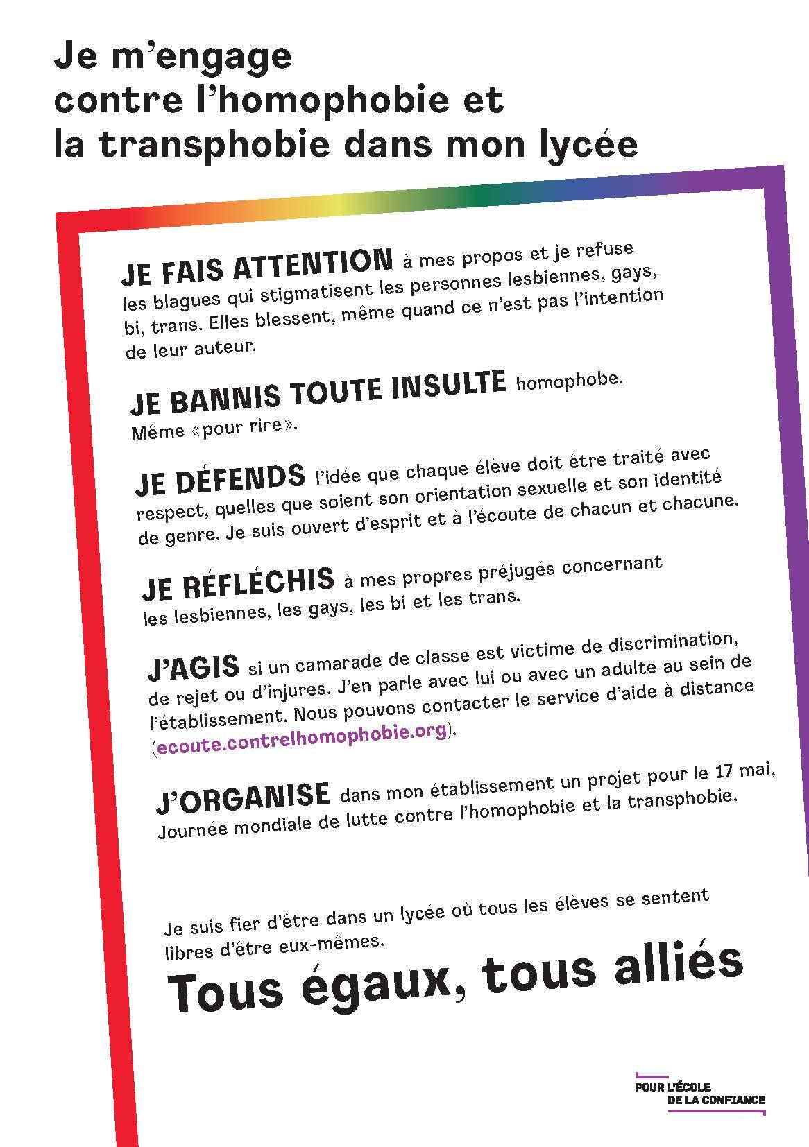 Lutter Contre L Homophobie Prévenir L Homophobie Et La