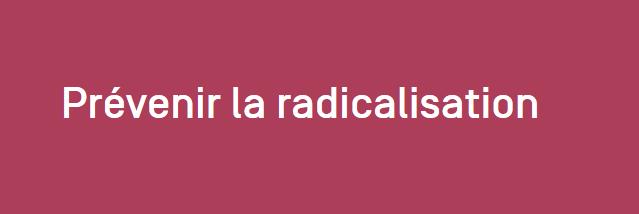 Le site Prévenir la radicalisation