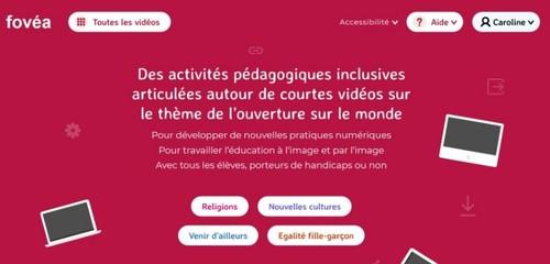 Capture d'écran de la page principale de Fovéa.