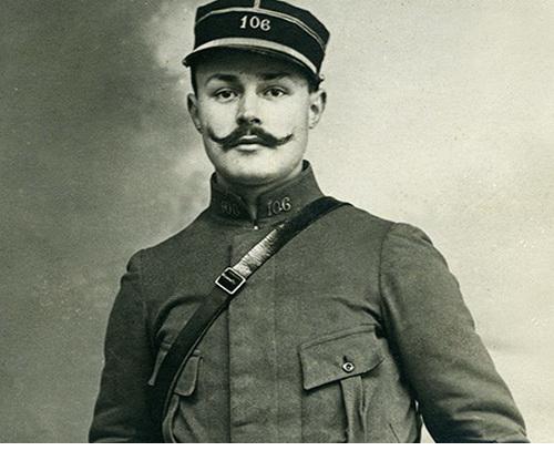 Maurice Genevoix en uniforme