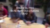 Prix Goncourt des lycéens 2012