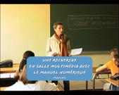Français: une recherche en salle multimedia avec le manuel numérique
