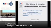 Séminaire national - Rénovation des référentiels du brevet de technicien supérieur des fluides, énergie et environnement